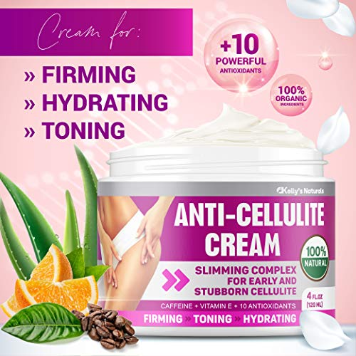 Cellulite Cream for 100% Complete Cellulite Removal - Made In USA - Hot Cream with Caffeine Cellulite Treatment - Slimming, Firming & Tightening - Works for Anti Cellulite Oil Massage & Workout Sweat 4
