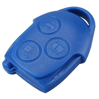BACAI 3 Button Remote Entry Key Fob Case Shell for Ford TRANSIT & CONNECT Blue