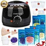 OAKEER Hair Removal Wax Warmer Kit Home Wax Kit Women Men New Waxing Kit Body Waxing,63 Accessories