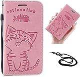 iPhone 12 mini ケース 手帳型 アイフォン12 mini ケース ストラップ付 かわいい 魚柄と猫柄 ……