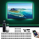 LE 2M 60LEDs Ruban LED TV USB Connecté WIFI, 4×Bande Lumineux...