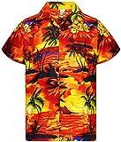 V.H.O. Funky Camisa Hawaiana, Surf, Orange, XS