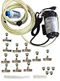Residential Misting System- Made in USA Pump- 200 psi Mid Pressure Patio Misting System-12 Nozzles Misting System