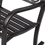 outsunny metallschaukelstuhl sitzflaeche