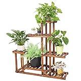 Soporte de Madera para Flores Estantera Decorativa de Macetas Plantas para Exterior Interior con 6 estantes 969525cm