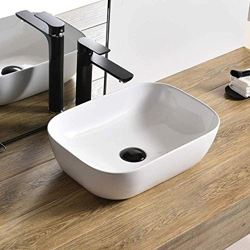 MOST White Table top Wash Basin/Glossy Finish/Counter top/Table top Bathroom Sink/Super White...
