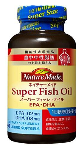 大塚製薬 ネイチャーメイド スーパーフィッシュオイル(EPA/DHA) 90粒 [機能性表示食品]