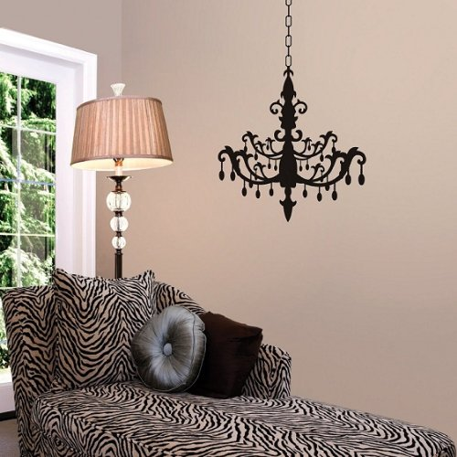 Wheeler3Designs Burnished Chandelier Vinyl Wall Decal