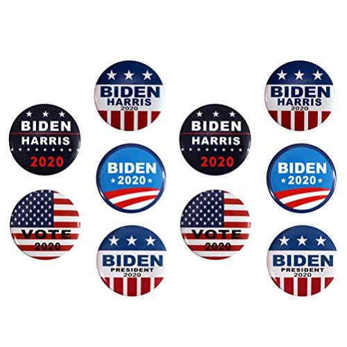 KESYOO 10 spille a forma di Joe Biden 2020 per campagna presidenziale (diversi colori)