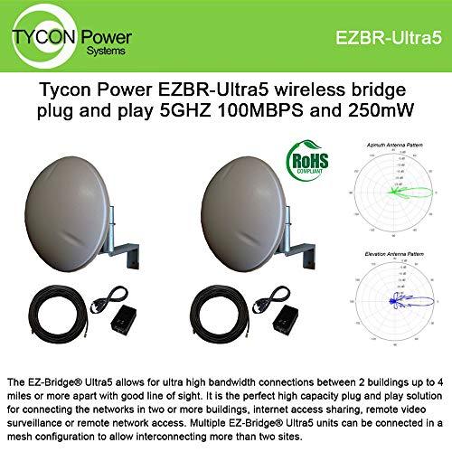 EZ-Bridge Ultra5 5GHz 100Mbps 250mW Wireless Bridge