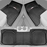 Motor Trend OF-933-BK Black Deep Dish Rubber Floor Mats All-Climate All Weather Performance Plus...