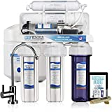 NU Aqua Platinum Series 100GPD Under Sink Reverse Osmosis Drinking Water Filtration System  Premium Water Filter (5 Stage With Pump)