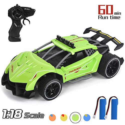 Think Wing Drift RC Cars, 1/18 Scale Remote Control Car, 2.4Ghz High Speed Racing Sport Car, Electric Toy Car Best Xmas Gifts Birthday Gift for All Adults & Kids (5618-4)