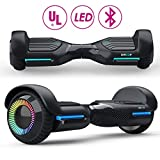 Gyroshoes Hoverboard UL 2272 Certified 6.5' Flashing Two-Wheel Self Balancing Hoverboard with App Bluetooth Speaker and Colorful LED Lights tire for Kids and Adults Gifts