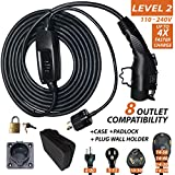 QC Charge - GoCable All-in-One Kit - Level 2 Electric Vehicle (EV) Charger - 110 Volts - 208 Volts - 240 Volts with 8 Outlet Compatibility