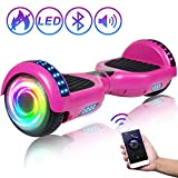 SISIGAD Hoverboard 6.5 Self Balancing Scooter with Colorful LED Wheels Lights Two-Wheels self Balancing Hoverboard Dual 300W Motors Hover Board UL2272 Certified