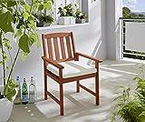 Milano Armstuhl Natur mit Kissen Beige Sessel Gartenstuhl Gartensessel - 4