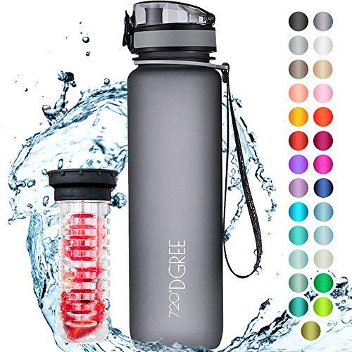 """720°DGREE Trinkflasche """"uberBottle"""" softTouch +Früchtebehälter - 1L - BPA-Frei - Wa..."""