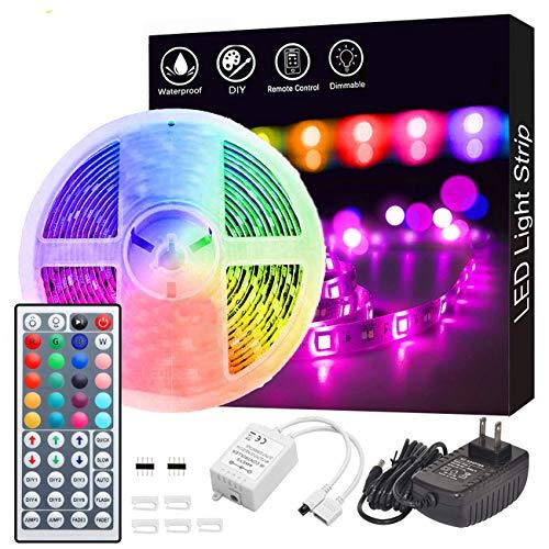 Led Strip Lights, GOADROM Waterproof 16.4ft 5m Flexible Color Changing RGB SMD 5050 150leds LED Strip Light Kit...