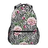 Mochila escolar ADMustwin con estampado de piel de cebra de animales, bolsa de viaje, ligera, impermeable, mochila para ordenador portátil, mochila pr...