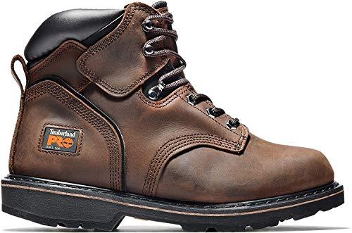 Timberland PRO Men's Pitboss 6' Steel-Toe Boot, Brown , 9 D - Medium