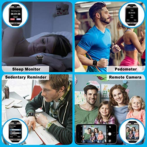 Mahipey Smart Watch,Smartwatch for Android Phones,Smart Watches Touchscreen with Camera Bluetooth Watch Cell Phone with Sim Card Slot Compatible Samsung Ios Phone 12 12 Pro 11 10 Men Women 13