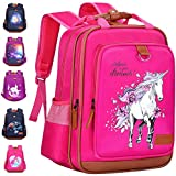 Backpack for Girls Unicorn 15' | Durable and Functional School Book Bag Perfect for Kindergarten or Elementary | Lightweight Back Pack for Kids