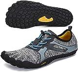 SAGUARO Chaussure Minimaliste Homme Femme de Trail Chaussure Plage de Marche Randonne Rocher Canyoning Running Chaussures Courses Barefoot Aquashoes(Gris, 48 EU)