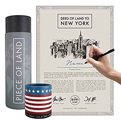 🗽A PIECE OF NEW YORK – Do you know anyone who loves New York? Give them a personal piece of their favorite place! We provide a deed of ownership to 100 square inches of land in this wonderful state. ✅ SHARE LAND ACCESS - We provide her or him with ac...
