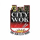 A/X 13 cm 8,5 cm para City Wok, Pegatina de reparación de Coche, calcomanía...