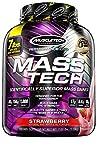 Mass Gainer Protein Powder   MuscleTech Mass-Tech Mass Gainer   Whey Protein Powder + Muscle Builder   Weight Gainer   Protein Powder for Muscle Gain   Creatine Supplements   Strawberry, 7 lbs
