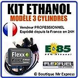 Kit Ethanol Flex Fuel - E85 - Bioethanol - 3 Cylindres + Interface de...
