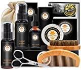 Kit de Barbe Homme Complet Coffret Barbe avec Conditionneur de Barbe Shampoing...