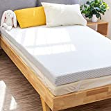 PERLECARE 3 Inch Gel Memory Foam Mattress Topper for Pressure Relief, Premium Soft Mattress Topper for Cooling Sleep, Non-Slip Design with Removable & Washable Cover, CertiPUR-US Certified - Queen