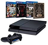 Contenu : Console PS4 500 Go Noire + Metal Gear Solid V : The Phantom Pain Assassin's Creed : Syndicate + Steelbook exclusif Amazon GTA V