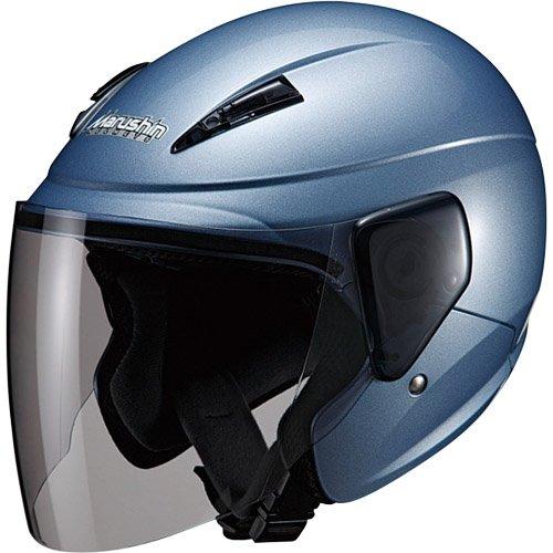 マルシン(MARUSHIN) バイクヘルメット セミジェット M-520 アイスブルー フリーサイズ(57~~60CM未満)