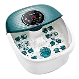 Foot Spa/Bath Massager with Heat, Bubbles, and Vibration, Digital Temperature Control, 16 Masssage Rollers...