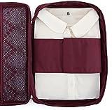 Ducomi® Cloonie - Organiseur de Voyage pour Chemises et Cravates - Sac de Rangement Résistant et Etanche pour Valises et Bagages (Bourgogne)