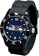 8-inch band, 1.5-inch face Eye-Catching Watch Detailed with Team Colored Logo and Team Colored Dial Features Water and Shock Resistant up to 3 ATM Boasts Stainless Steel Case Back, Flexible Rubber Sports Strap with Sports Buckle Complements any Casua...