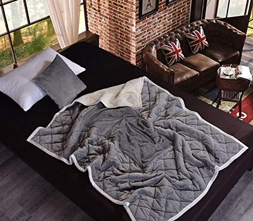 WCCCW Manta de cojín de Franela 2 en 1 sofá de Coche Almohada de Tiro Lumbar Manta de Aire Acondicionado Manta de edredón de Retazos Plegable Ropa de Cama-B6
