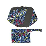 Hisprout Bamboo-Charcoal Reusable Sanitary Pads, Cloth Mama Menstrual Pads, Bohemian Fashion (WSDS05)