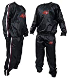 4Fit Heavy Duty Sweat Suit Sauna Exercise Gym Suit Fitness Weight Loss Anti-Rip S-6XL (Medium)