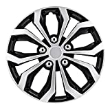 Pilot Automotive WH553-16S-BS Black/Silver 16 Inch 16' Spyder Performance Wheel Cover | Pack of 4 | Fits Toyota Volkswagen VW Chevy Chevrolet Honda Mazda Dodge Ford and Others