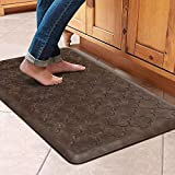 WiseLife Kitchen Mat Cushioned Anti Fatigue Floor Mat,17.3'x28', Thick Non Slip Waterproof Kitchen Rugs and Mats,Heavy Duty Foam Standing Mat for Kitchen,Floor,Home,Office,Desk,Sink,Laundry, Brown