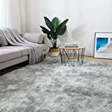 5x8 Grey Area Rugs for Living Room, Bedroom, Home Soft Fluffy Indoor Floor Shaggy Carpet Mat Rugs