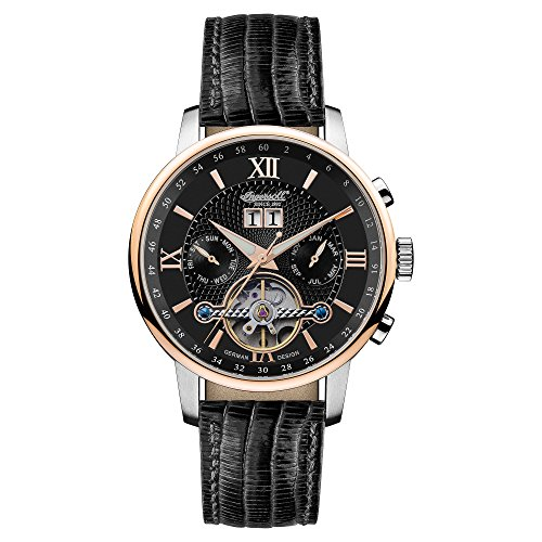 Ingersoll Men's Automatic Watch withSchwarz Dial Chronograph Display andSchwarz Leather Strap IN6900RBK
