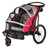 Schwinn Joyrider Child Bike Trailer, Single and Double Baby Carrier, Canopy, 20-inch Wheels