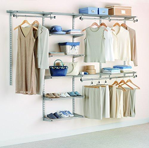 Rubbermaid Configurations Deluxe Closet Kit, Titanium, 4-8 Ft.,...