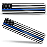 2 x 3D Domed Silicone Stickers Decals USA United States of America Thin Blue Line National American Police Support Flag Car Motorcycle Helmet F 59