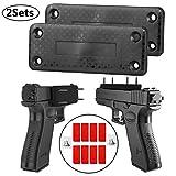 ShineTool 2 Pack Magnetic Gun Mount Magnet Gun Sleeve Gun Holder Safety Bracket for Car, Handgun, Pistol, Rifle, Shotgun, Revolver